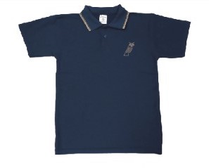 Polo dry fit azul de uniforme regular